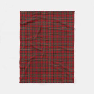 Scottish Clan Stewart Royal Red Classic Tartan Fleece Blanket