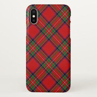 Scottish Clan Stewart Tartan Plaid iPhone X Case
