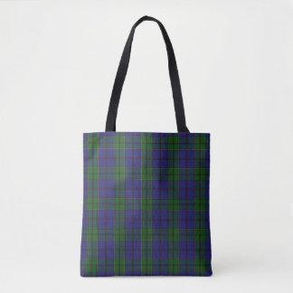 Scottish Clan Strachan Tartan Plaid Tote Bag