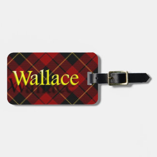 Scottish Clan Wallace Luggage Tag