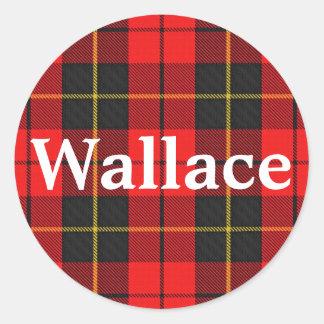 Scottish Clan Wallace Tartan Plaid Classic Round Sticker
