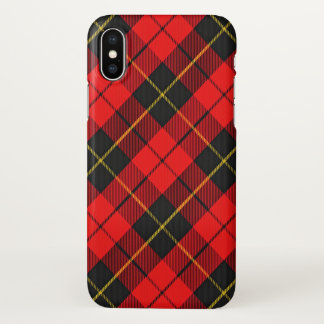 Scottish Clan Wallace Tartan Plaid iPhone X Case