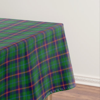 Scottish Clan Young Green Purple Yellow Tartan Tablecloth