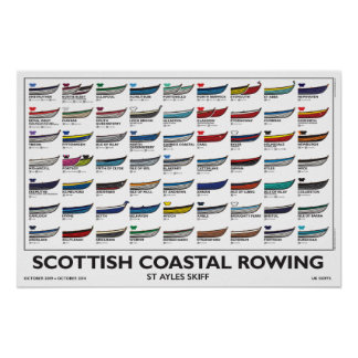 Scottish Coastal Rowing Poster - Skiffs, 5 yr. v3
