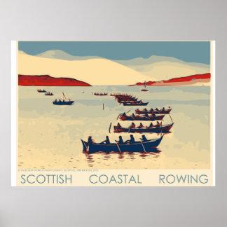 Scottish Coastal Rowing Railway-style poster