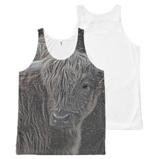 Scottish cow photograph All-Over print tank top