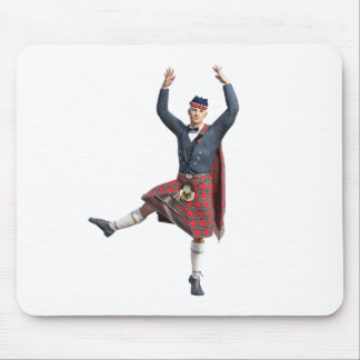 Scottish Dancer Leaping Mouse Pad