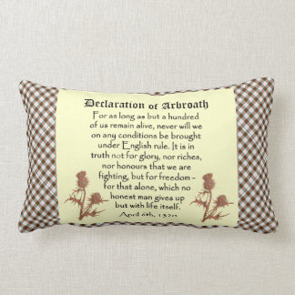 Scottish Declaration of Arbroath Tartan Cushion