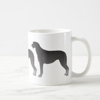 Scottish Deerhound Basic Dog Breed Silhouette Coffee Mug