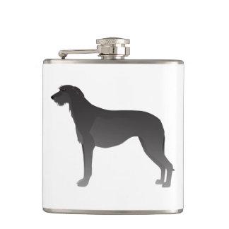 Scottish Deerhound Basic Dog Breed Silhouette Hip Flask