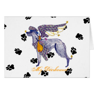 Scottish Deerhound Bone Mot Card