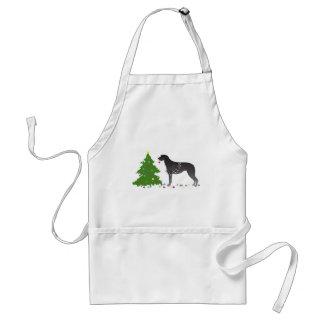 Scottish Deerhound Christmas Design Standard Apron