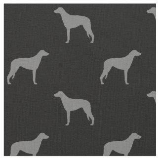 Scottish Deerhound Silhouettes Pattern Fabric