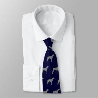 Scottish Deerhound Silhouettes Pattern Tie