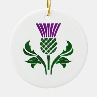 Scottish emblem thistle ceramic ornament