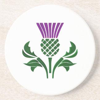 Scottish emblem thistle coaster
