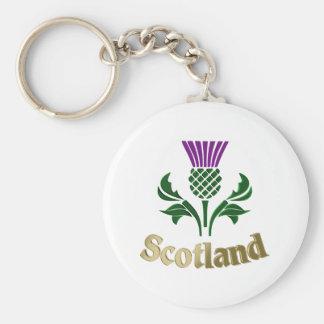 Scottish emblem thistle key ring