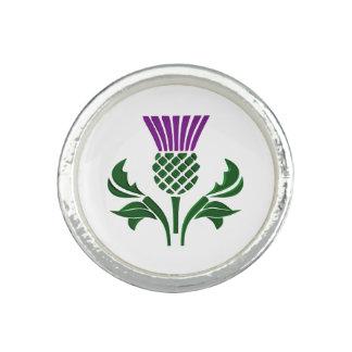 Scottish emblem thistle ring