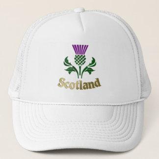 Scottish emblem thistle trucker hat