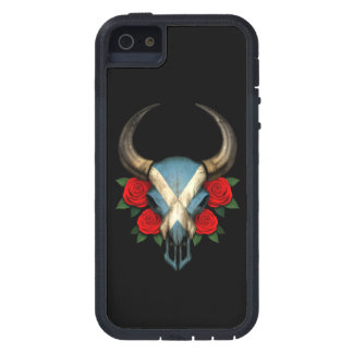 Scottish Flag Bull Skull with Red Roses iPhone 5 Cases
