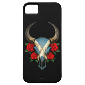 Scottish Flag Bull Skull with Red Roses iPhone 5 Cover