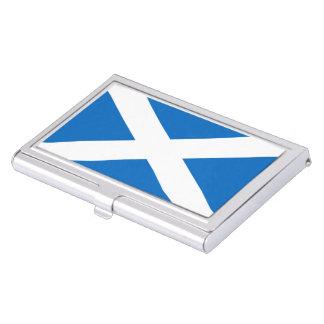 Scottish flag business card holder