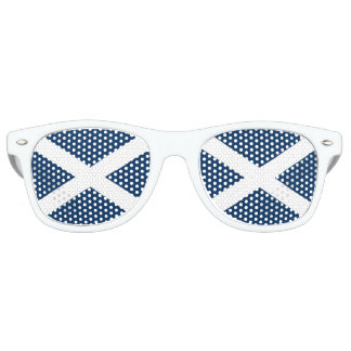 Scottish Flag Fun White Glasses