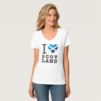 Scottish Flag Heart - Love Scotland T-Shirt