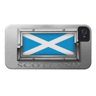 Scottish Flag in Steel Frame iPhone 4 Case-Mate Cases