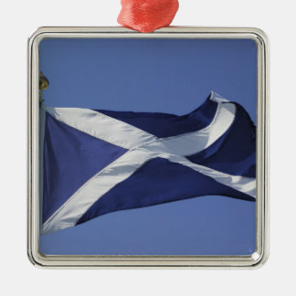 Scottish Flag Metal Ornament
