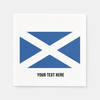 Scottish flag of Scotland custom party napkins Paper Napkin