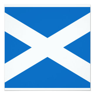 Scottish Flag of Scotland Saint Andrew's Cross 13 Cm X 13 Cm Square Invitation Card
