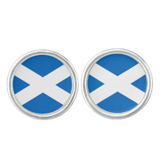 Scottish Flag of Scotland Saint Andrew's Cross Cufflinks
