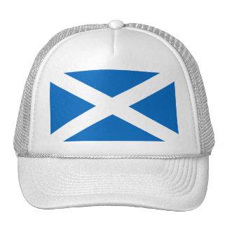 Scottish Flag of Scotland Saint Andrew's Cross Trucker Hats