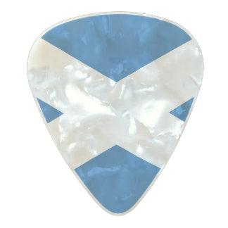 Scottish flag pearl celluloid guitar pick