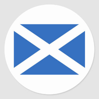 Scottish Flag Round Sticker