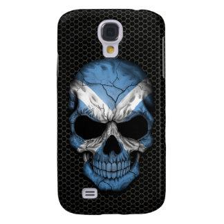 Scottish Flag Skull on Steel Mesh Graphic Galaxy S4 Case