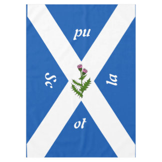 Scottish flag tablecloth