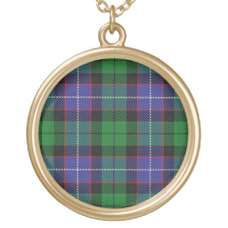 Scottish Flair Clan Galbraith Tartan Gold Plated Necklace