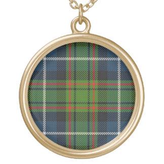 Scottish Flair Clan MacRae Tartan Gold Plated Necklace