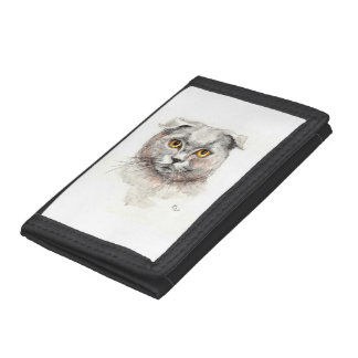 Scottish Fold Cat Trifold Wallet