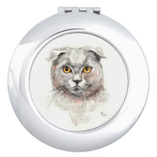Scottish Fold Cat Vanity Mirror