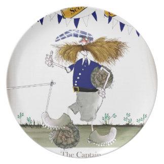 scottish football captain plate