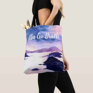Scottish Gaelic Customisable Watercolour Tote Bag