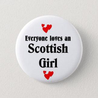 Scottish girl 6 cm round badge