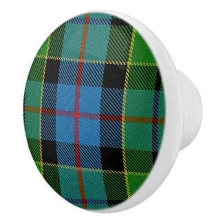 Scottish Grandeur Clan Forsyth Tartan Plaid Ceramic Knob