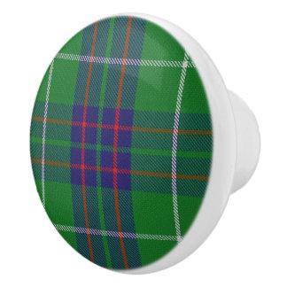 Scottish Grandeur Clan MacIntyre Tartan Plaid Ceramic Knob