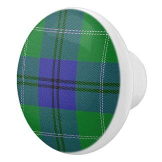 Scottish Grandeur Clan Oliphant Tartan Plaid Ceramic Knob
