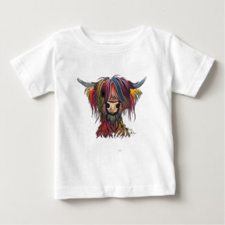 Scottish Hairy Highland Cow ' OLIVER ' Baby T-Shirt