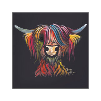 Scottish Hairy Highland Cow ' OLIVER ' Canvas Print